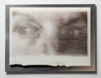 Glance, kilnformed glass and aluminum, 2014