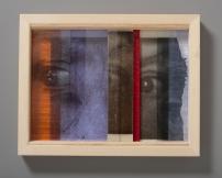 Inbox, kilnformed glass and wood, 2014